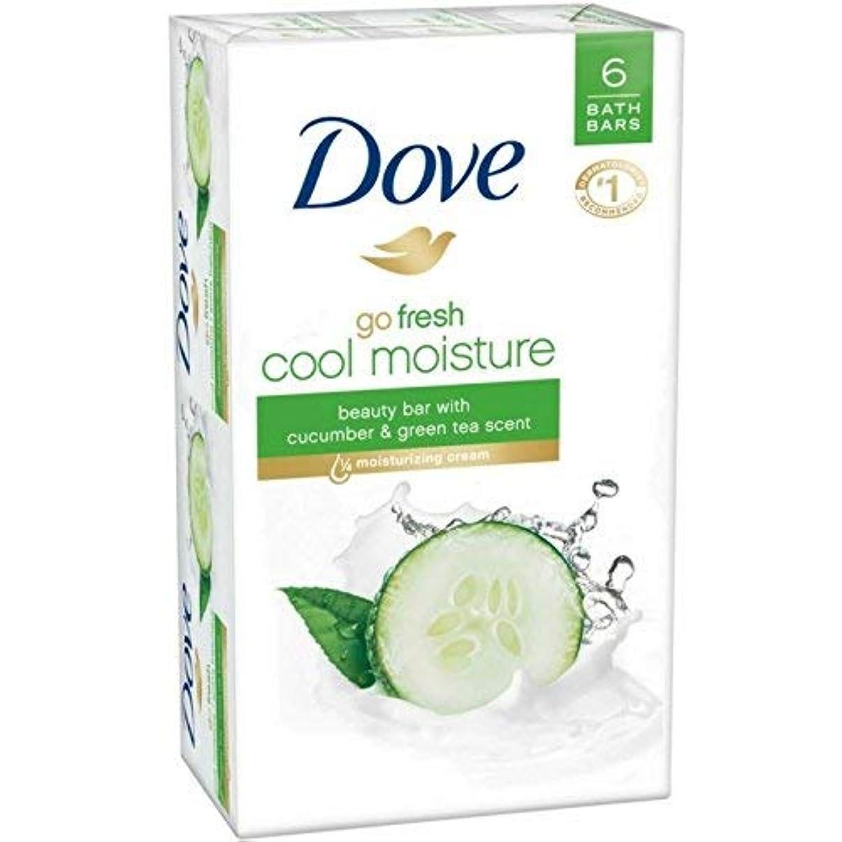 利得パーツ原稿Dove 行く新鮮な美しさバーキュウリ、緑茶4オズ、6バー(6パック)
