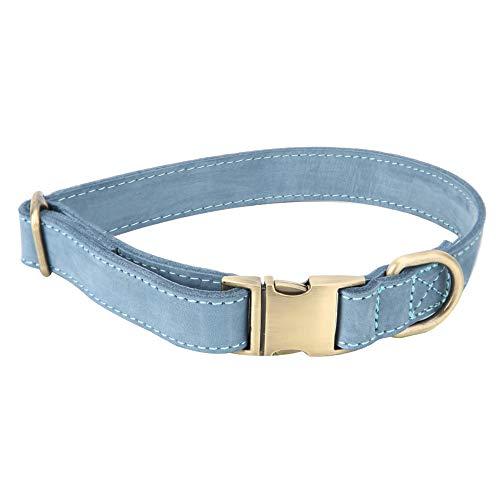 TXX Cuero Ajustable Suave Antideslizante Antideslizante Perros Entrenamiento Caminando Corriendo Correa Lea Collar L L