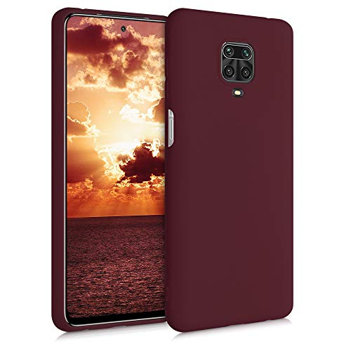 kwmobile Funda Compatible con Xiaomi Redmi Note 9S / 9 Pro / 9 Pro MAX - Carcasa de TPU Silicona - Protector Trasero en Rojo Vino