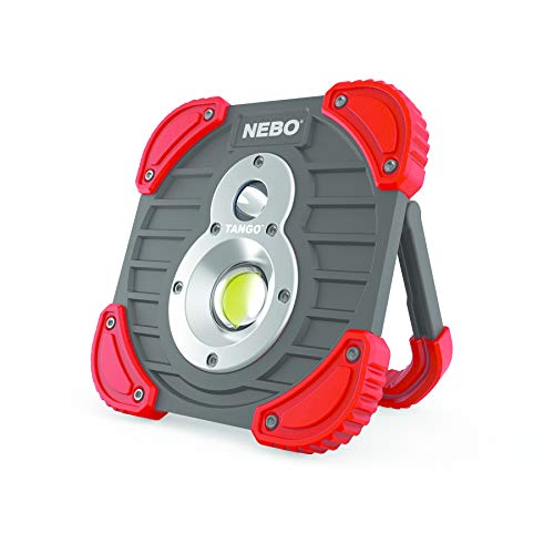 NEBO Unisex Tango Arbeitslicht & Powerbank, schwarz/rot, Length: 45mm Width Height: 148mm