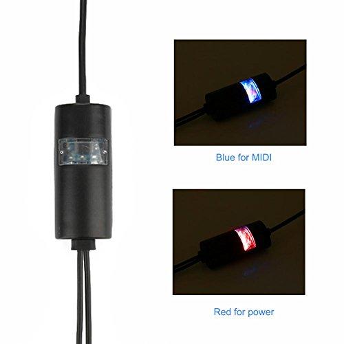 MIDI zu USB Konverter, MIDI zu USB Kabel, Smart 59in USB Kabel LED Anzeige Universal Electronic Music Zubehör für elektronische Tastatur E-Gitarre