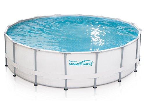 Summer Waves Elite 16'x48 Frame Pool with SkimmerPlus Filter Pump System