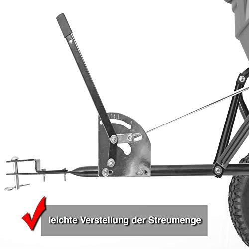 HECHT Universal-Streuwagen 260 ANHÄNGER Streumaschine Düngerstreuer Salzstreuer (mit ca. 60 Liter Fassungsvermögen);;;;; - 2