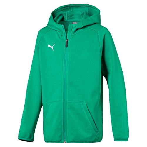 Puma Liga Casuals Hoody Jacket Jr, Felpa Unisex-Bambino, Pepper Green/White, 176