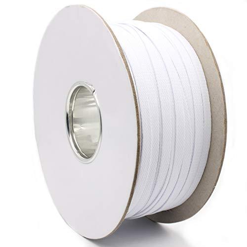 5m Gewebeschlauch Kabelschutz Geflechtschlauch Weiß Ø6mm Innendurchmesser bis 200% ausdehnbar