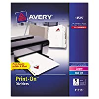 INDEX,PRINT-ON,5T,5/PK,WH