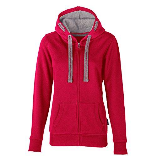HRM Damen Jacket F Kapuzenpullover, Rot (Raspberry 8), Large