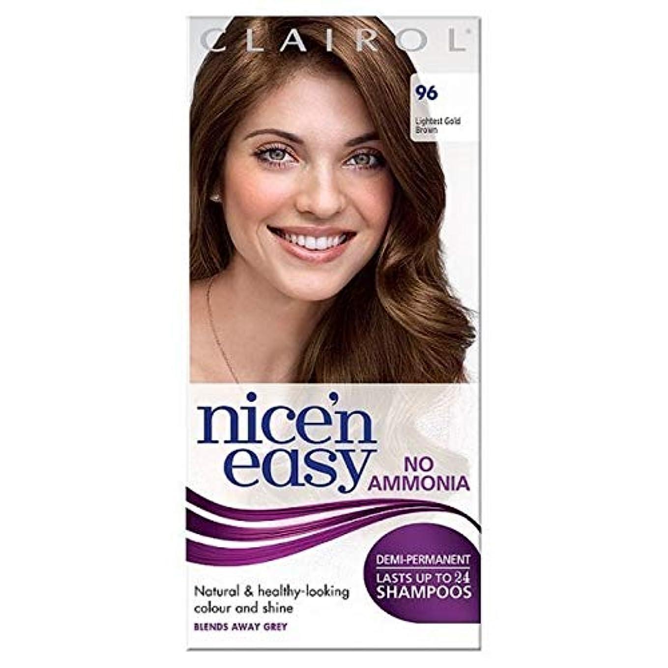 間違えた絶縁する深める[Nice'n Easy] Nice'N簡単に何のアンモニア毛が96軽い黄金色に染めていません - Nice'n Easy No Ammonia Hair Dye Lightest Golden Brown 96 [並行輸入品]