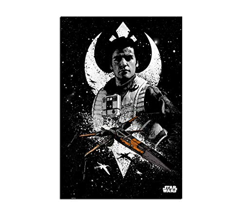 HD Print Star Wars Pilots Posters and Prints Home Decor Wall Art on Canvas Poe Dameron (16x24inch,Unframed)