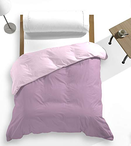 Catotex - Funda nórdica Reversible Bicolor Liso para edredón 50% algodón 50% Poliester. Cama de 150/160 cm Rosa/Violet
