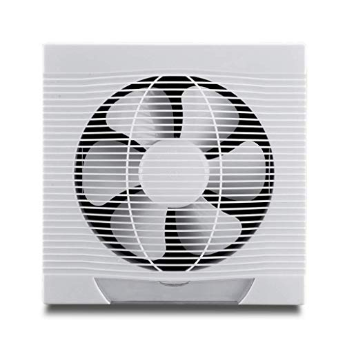 SHYPT Extintor de Pared, de plástico Blanco del Cuadrado del Extintor Humos Inicio Baño Strong Pared Ventilador de ventilación