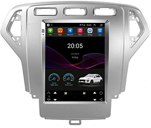 Compatible para Ford Mondeo Wins Sat Nav Android 10.0 Unidad De Cabeza FM Radio Receptor Auto Audio Player MP5 Coche Estéreo 9 Pulgadas Pantalla Táctil Navegación GPS,4 Core 4G+WiFi 2+32GB