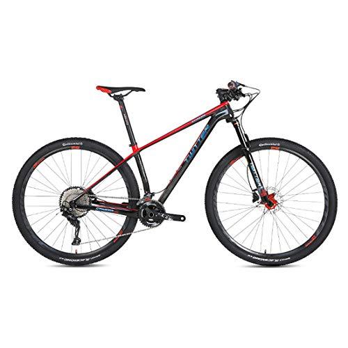 MTB - 27.5/29 Zoll Kohlefaser Mountainbike, Shimano Ölscheibenbremse, Shimano XT/M8000-22/33 Gang-Schaltung, Vollfederung,Br,27.5inch*15inch