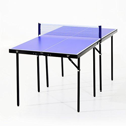 HOMCOM Mini Table de ping Pong Tennis de Table Pliable...