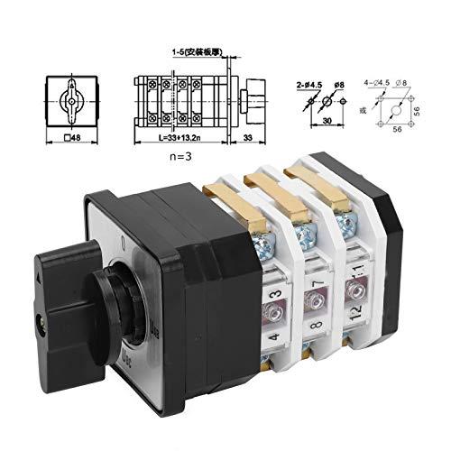 Conmutador de cambio, universal 4 posiciones 220V-380V 16A Interruptor giratorio, para control de circuito Control de motor