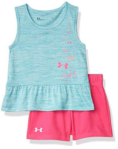 Under Armour Girls' Little UA Logo Drift Set, rift Blue, 6