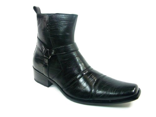 Delli Aldo Men's 681 Western Style Faux Leather Riding Boots