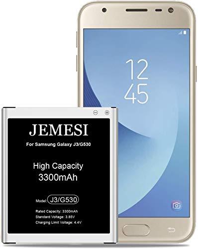 JEMESI3300 mAh para Samsung Galaxy J3/J5 de Alta Capacidad, Reemplazo de Ion de Litio Compatible con Original EB-BG530BBE Batería (1 años de garantía)