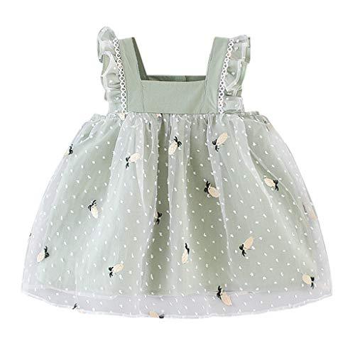 cover Baby Mädchen Kleider Ananas Muster Tüll Kleid Sommerkleid