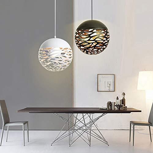 Eisen hängende Lampen kreative Persönlichkeit Bar Schlafzimmer Restaurant hohle Kugel-Pendelleuchten,Weiß,Durchmesser 40cm