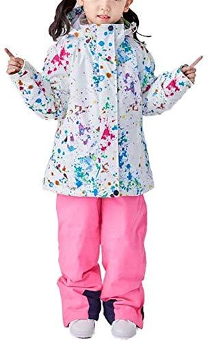 LSZ Enfants Ski Veste Et Pantalon Set, Hiver Habineige Paquet, Bébé Habits De Neige One Piece for Bébés Costumes De Ski for Enfant en Bas Âge Petit Salopette, E, 150cm (Couleur : A, Taille : 120CM)
