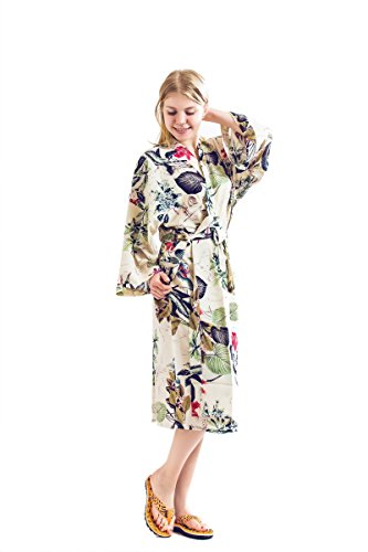Robe&Wedding Bride Robe Women Robe Cotton Robe Long Style (White-Red)
