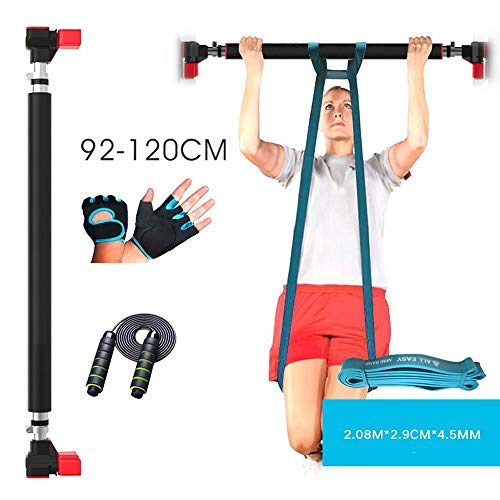 Door Exercise Bar Without Screw Installation-ZHYJA-Y Without Installation Mechanism Adjustable Pull up Bar for Pull-ups Chin-ups Hanging Leg Raises Sit-ups Pull up bar Door Frame
