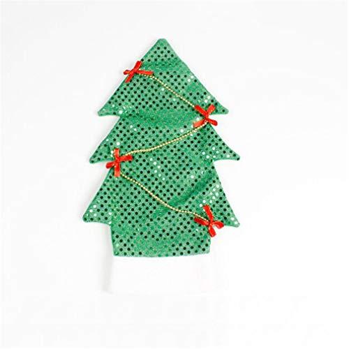 Hengxing Weinflasche Abdeckung Weihnachtsbaum Flasche Abdeckungen für Xmas Party Küchentisch Dekor Hotelbar, grün