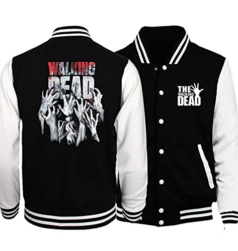 ssultier The Walking Dead Baseball Uniform Jacket Sport Coat,IP Varsity Jacket for Men