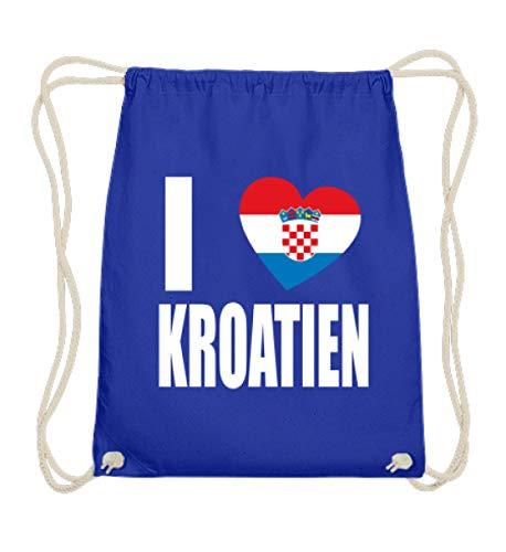Hochwertige Baumwoll Gymsac - Flagge Hrvatska I Love Kroatien Kroatische Fahne Fan Trikot Geschenk