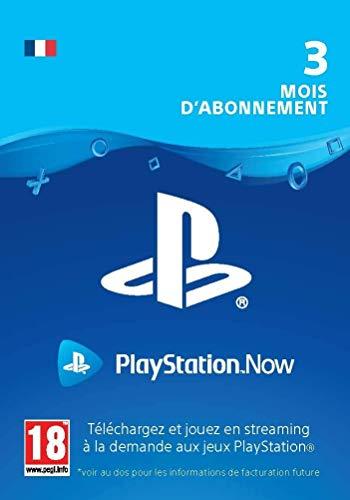 Sony PlayStation Now, Carte d'abonnement de 3 mois, Code jeu à télécharger, Compte Français