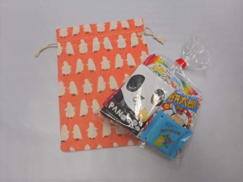 オシャレ巾着(とり)駄菓子 詰め合わせ ミニサイズ 巾着 麻 プレゼント 贈り物 ギフト