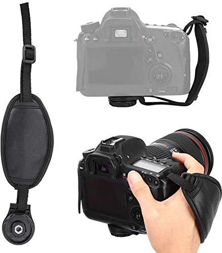 Schützks Bandoulière pour Appareil Photo, Ceinture d'épaule pour Appareil Photo Portable, léger, épais et Doux, avec Poche à Fermeture éclair, pour Canon, pour Nikon, pour Sony DSLR