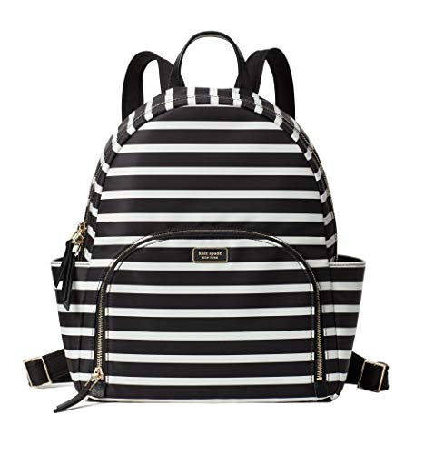 Kate Spade New York Dawn Sailing Stripe Large Nylon Backpack Black Multi Bag
