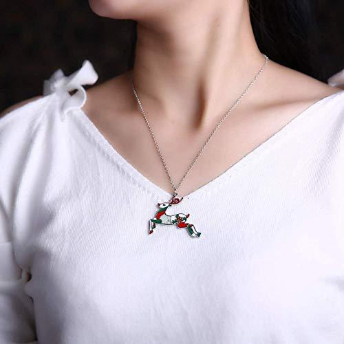 SONGAI Alloy Animal Deer Elk Choker Necklace Chain Collar Pendant Christmas Fashion New Year Gift New Enamel Jewelry Women Bracelets Earrings Rings Necklaces