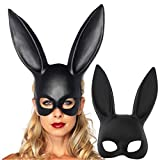 Bunny Mask Women's Masquerade Rabbit Mask Halloween Easter Party Costume Accessory