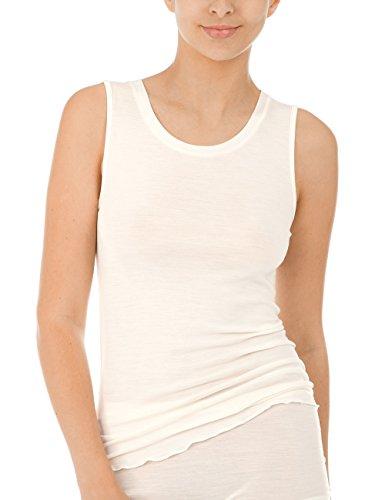 Calida Damen True Confidence Top ohne Arm Unterhemd, Cream White, 44/46
