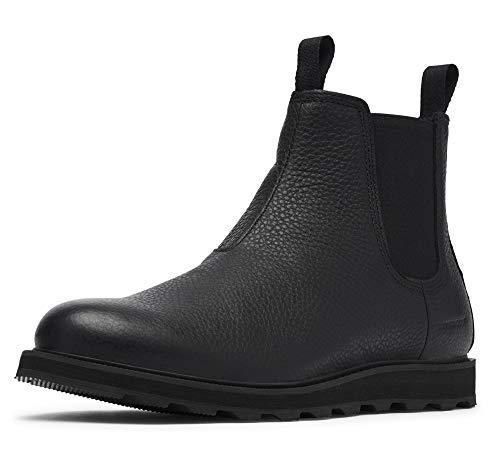 Sorel - Men's Madson Chelsea Waterproof Boot, Black/Black, 12 M US
