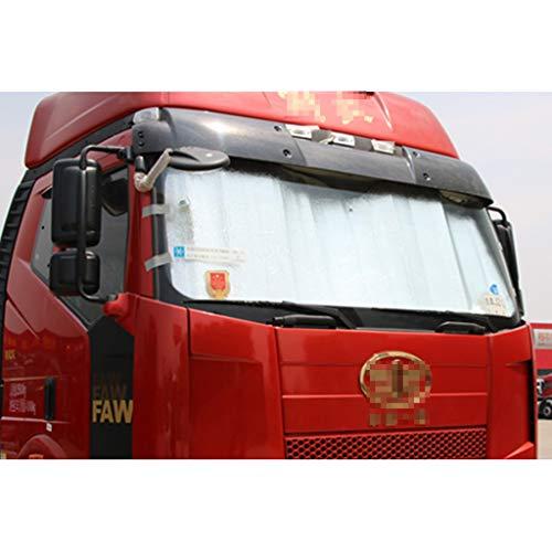 Visera Del Sol Del Camión, Aislamiento Bloque De Protección Solar UV Coche De Sol, Espesante, Espesante, Lámina De Aluminio, Visor De Sol Adecuado Para El Parabrisas Delantero(Size:70*160CM)