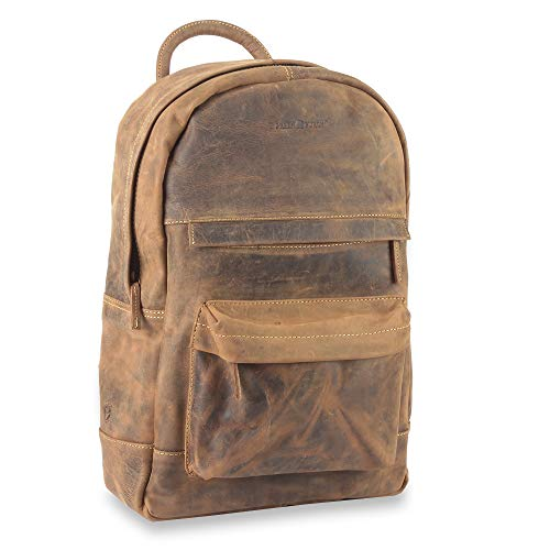 Greenburry Vintage Retro Rucksack Leder 42 cm Laptopfach