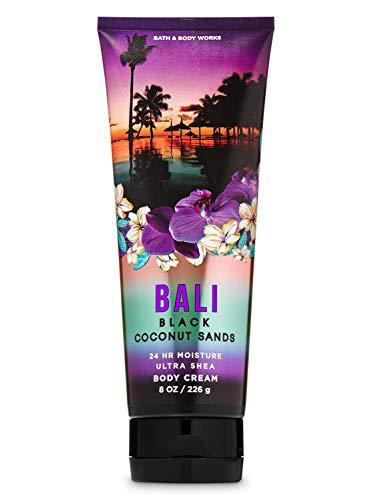 Bath & Body Works Bali Black Coconut Sands 24 Hour Moisture Ultra Shea Body Cream with Aloe, Cocoa and Shea Butter 8 oz / 226 g
