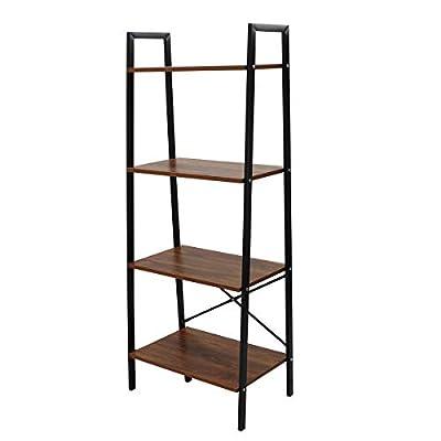 LASUAVY Ladder Shelf Bookcase Multi-Functional Modern Wood Storage Display Open Bookshelf for Home Office