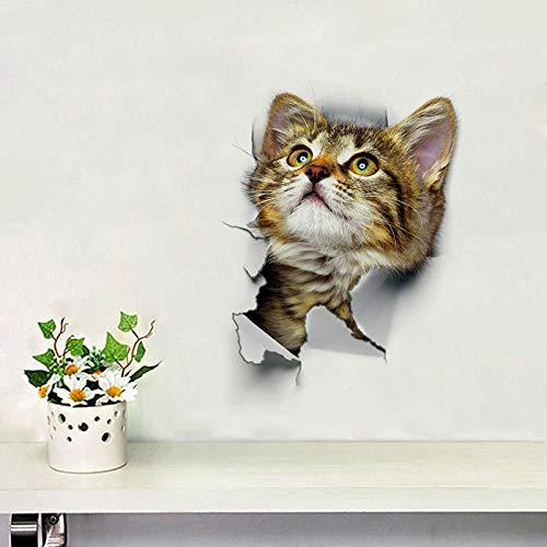 Kreative Toilettenaufkleber der niedlichen Persönlichkeitskatzen-Wandaufkleber A Katze