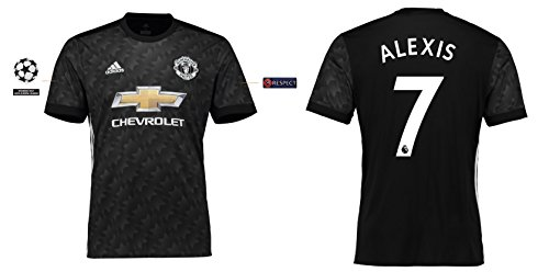 Trikot Kinder Manchester United 2017-2018 Away UCL - Alexis 7 (176)