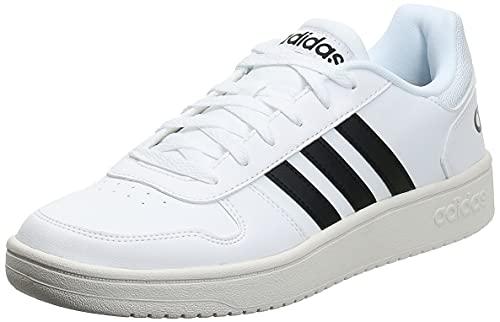 adidas Hoops 2.0, Scarpe da Basket Uomo, Ftwr White/Core Black/Ftwr White, 43 1/3 EU