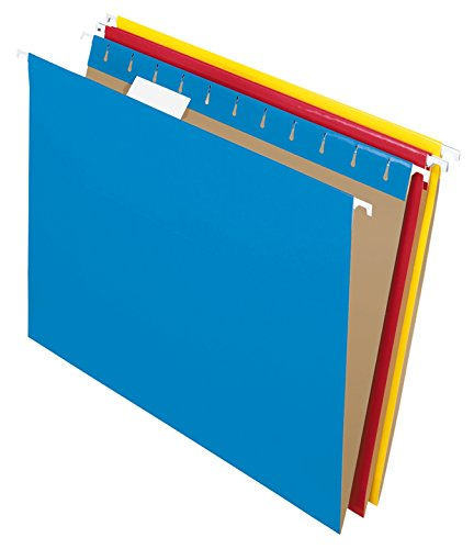 Pendaflex Recycled Hanging Folders, Letter Size, Assorted Colors, 1/5 Cut, 25/BX (81612)