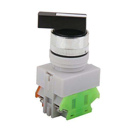 joyMerit Interruptor Giratorio de Bloqueo Automático de Parada de Emergencia de 660 V 10 a de 3 Posiciones