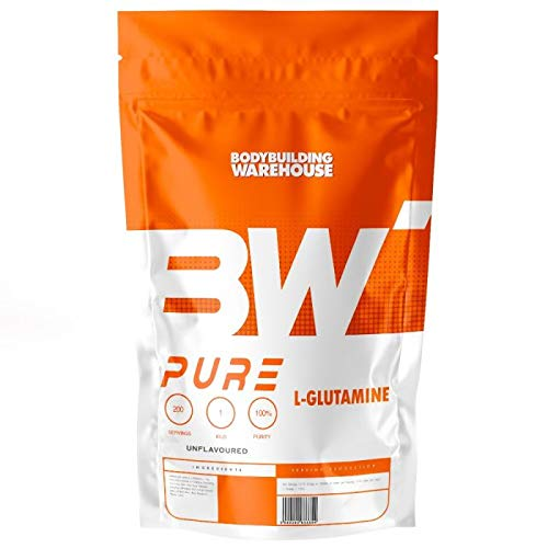 Pure L-Glutamine Powder - Supports Muscle Growth - Amino Acid Supplement | Bodybuilding Warehouse (Blue Raspberry, 250g)