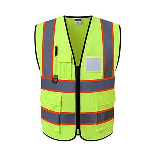 BLWX - Reflektierende Weste - Bauingenieurwesen Schutzkleidung Jacke Grüne Sicherheitsweste (2 Farbauswahl) Reflektierende Kleidung (Farbe : A, größe : 1)