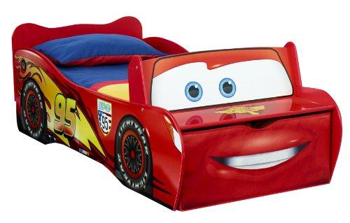 Worlds Apart - 452LMN - Lit enfant Disney Cars Flash McQueen, avec rangement, Rouge, 170 x 77 x 54 cm